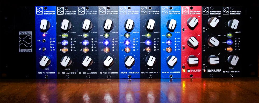 FiveFish Audio - DIY Mic Preamp Kits, 500 Series Kits, VPR
