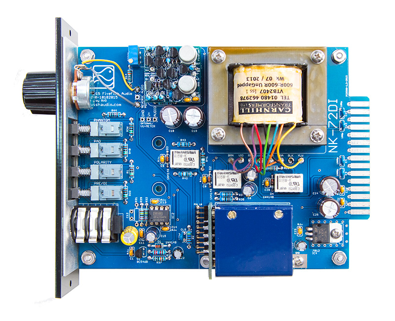 FiveFish Audio - NK-72DI Mic Preamp Kit, 500 Series