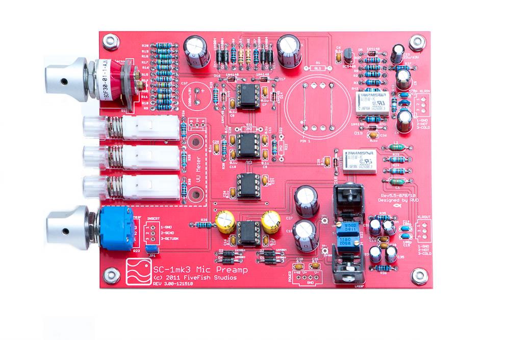 FiveFish Audio - SC-1 Mic Preamp Kit